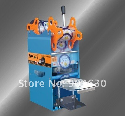 2016 New 220V Plastic Juice Cup Sealing Machine, Manual Cup Sealing machine, plastic sealing films for cup sealing machine lm2596 dc dc step down converter voltage regulator led display voltmeter 4 0 40 to 1 3 37v buck adapter adjustable power supply