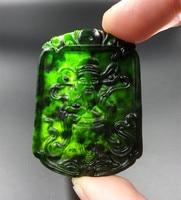 Authentic natural jade xinjiang hetian jade mo mammon nephrite jade pendant