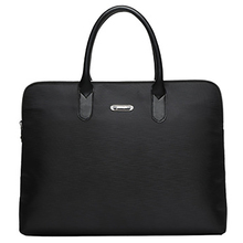 2019 Fashion Simple Famous Brand Business Men Briefcase Bag Luxury Leather