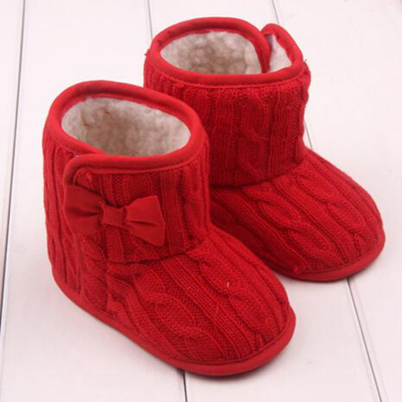 Winter Super Warm Newborn Baby Boys Girls First Walkers Shoes Infant Toddler Soft Rubber Soled Anti-slip Boots Booties KYY8032