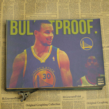 Figure NBA basketball star Stephen curry poster warriors retro photo wall stickers decorative painting paper 5