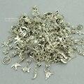 Nuevo 50 unids mixta encantos de plata tibetanos del agujero grande al por mayor del metal colgantes del encanto del grano adapta Europea pulseras joyería que hace 3121