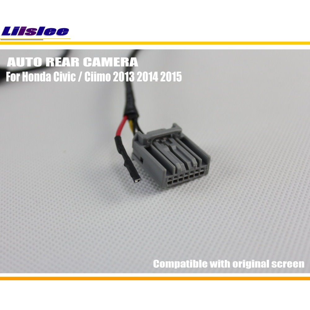 Liislee For Honda Civic Ciimo 9th Generation 20112015 Original 2014 Wiring Diagram Screen Compatible Car Rear Camera Back Reverse Sets In Vehicle From