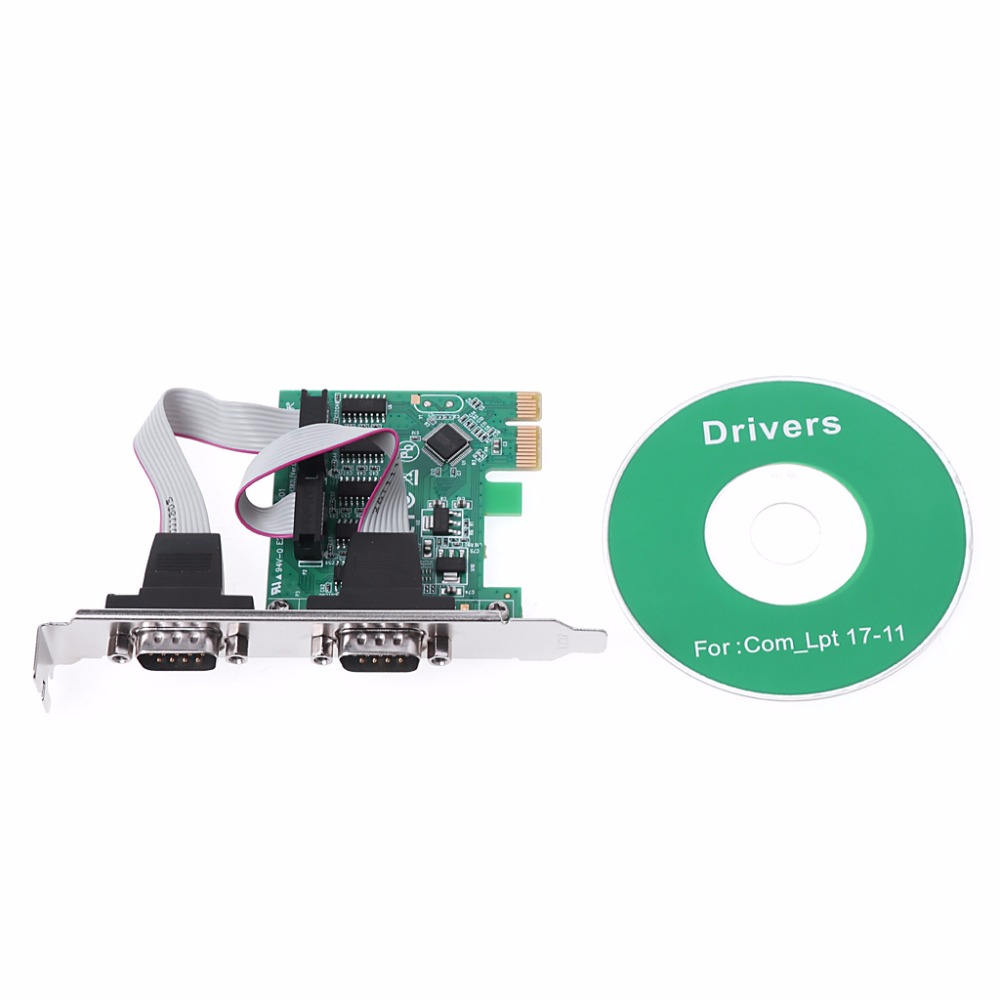New PCI-E PCI to Dual Serial DB9 RS232 Express Serial Controller Adapter Card 2-Por hot