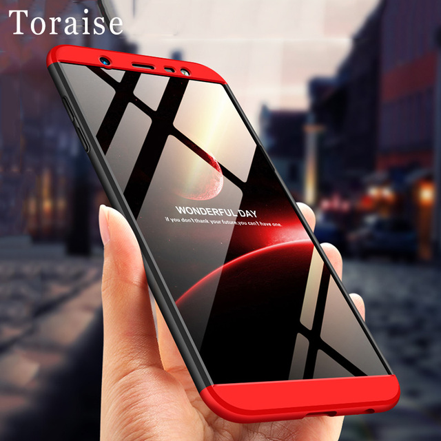 brand new 2a44b c8201 US $4.49 10% OFF Toraise Case For Samsung Galaxy J8 2018 Case Luxury 360  Full Protective Frosted PC Back Cover For Samsung J8 2018 Case coupe-in ...