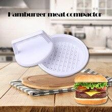 1Set Round Shape Hamburger Press Food-Grade Plastic Meat Beef Grill Burger Patty burger mold Mould Kitchen Tool