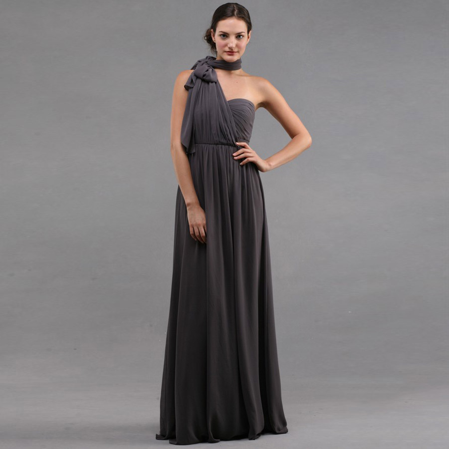 Grey Sweetheart font b Bridesmaid b font font b Dresses b font Off the shoulder Elegant