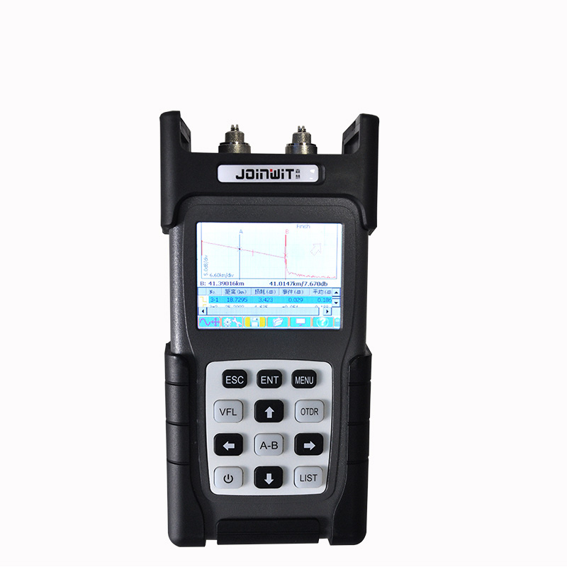 Handheld OTDR JW3302B-SM-OTDR-1310-1550nm-30/28dB,Integrated VFL 5MW Touch Screen Optical Time Domain Reflectometer BY DHL