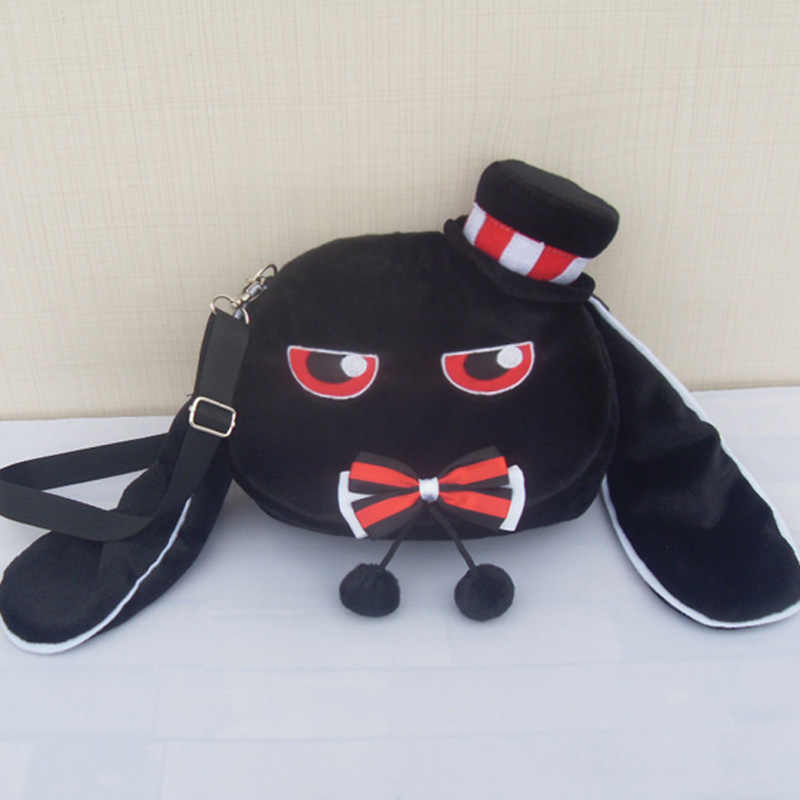 Женская сумка в стиле Харадзюку, кролика, Лолиты, зимняя плюшевая мягкая сумка на плечо, милая сумка через плечо с бантиком и шапкой