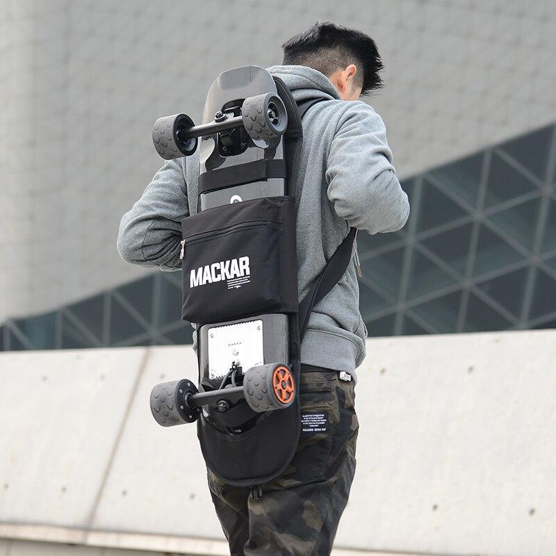 900D polieaster impermeable Skateboard mochila bolsa para monopatín doble basculante pequeña placa de pescado bolsa de monopatín eléctrica