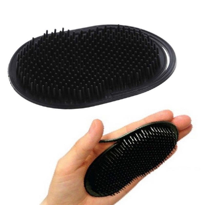 1PC Pocket Travel Hair Comb Brush Beard Mustache Palm Scalp Massage Black Shampoo Comb Hair Styling Tools For Men Women