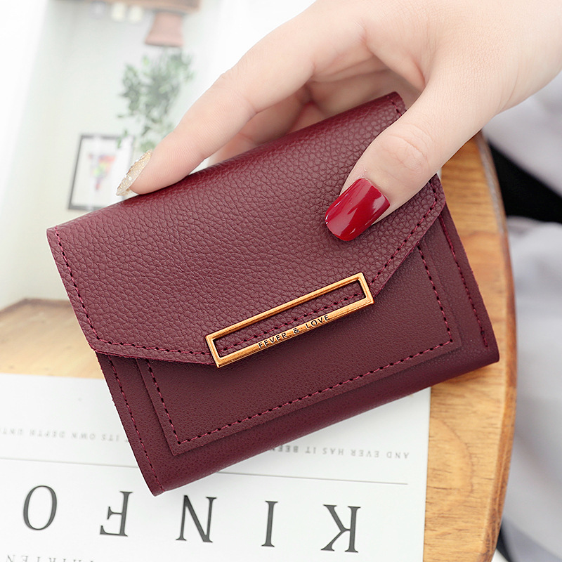 Women Casual Short Wallets Fashion Wallet Lady ID Card Holder Coin Pocket Small Wallet Solid Purse Females Carteras Carteira 10#