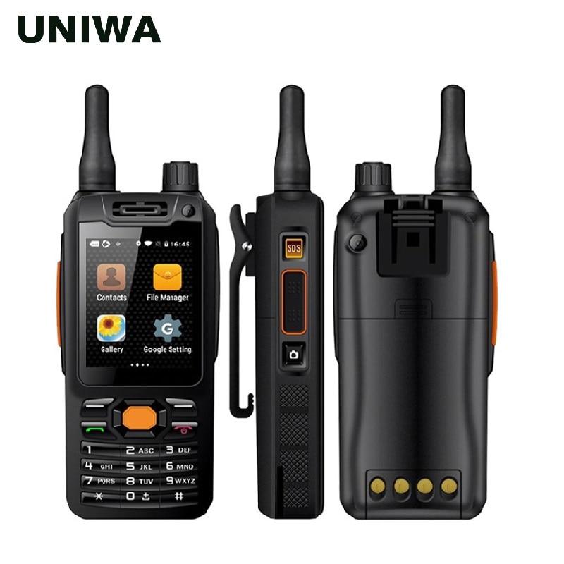 Alpes UNIWA F25 MTK6735 Zello Walkie Talkie Telefone Celular Quad Core 1 GB + 8 GB ROM GSM/WCDME /Reforço De Sinal LTE Smartphone Android