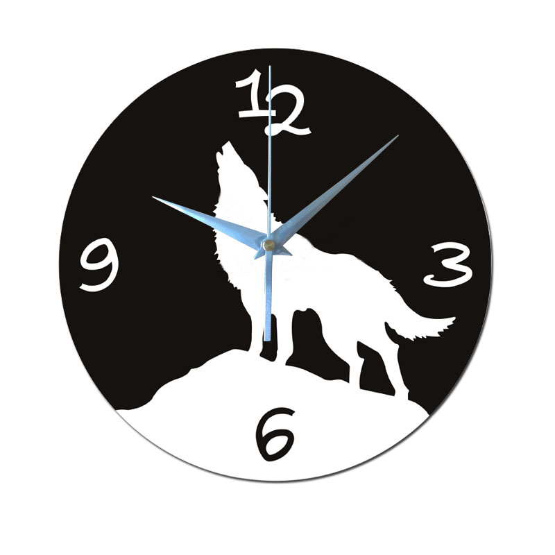 Reloj de pared Lobo Aullando