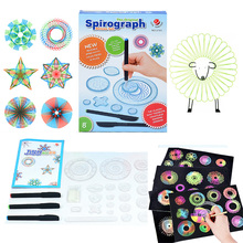 Children Spirograph Drawing Toys Set Accessory Magic Creative Spiral Sketchpad Kid Boy Girl Learning Educational Art Craft Gift