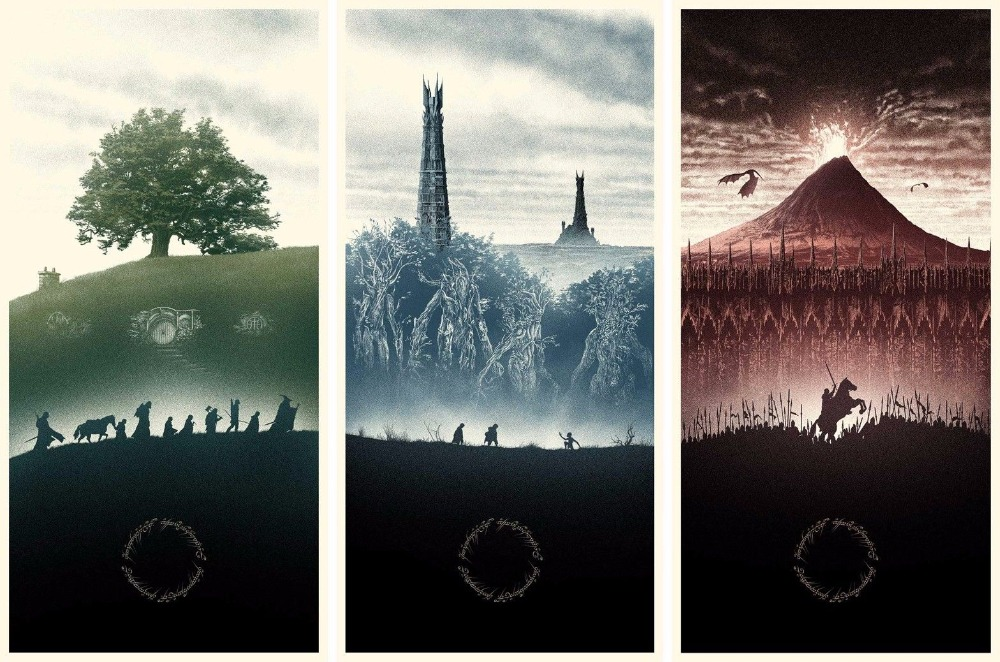 Home Decor Lord Of The Rings Movie 1-Silk Art Poster Wall Sticker Decoration Gift image