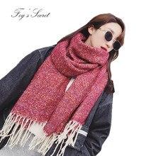 2019 bufanda foulard para las mujeres elegantes de la Cachemira de  imitación de bufandas invierno sjaals. 5 colores disponibles bc1e7ab45f1