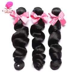 Królowa piękno 1/3/4 wiązki włosów luźne, brazylijskie, faliste doczepy Remy ludzki włos wyplata przedłużanie włosów 12-30 cal włosy w naturalnym kolorze