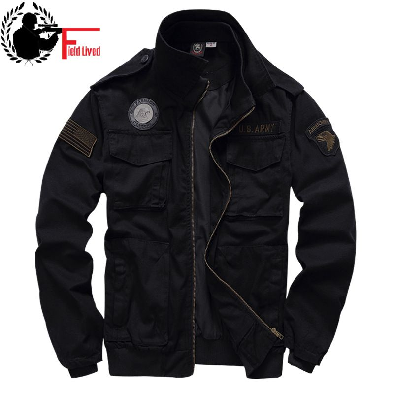 Tactical <font><b>Jacket</b></font> Men's 101 Airborne <font><b>Military</b></font> Uniform Army <font><b>Style</b></font> <font><b>Winter</b></font> Flight 2020 Ma1 Coat American <font><b>Military</b></font> Clothing Male Green image