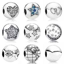 Buy globe beads and get free shipping on aliexpress heart of winter interlocked hearts world explorer globe clip stopper bead fit pandora bracelet 925 sterling sciox Choice Image