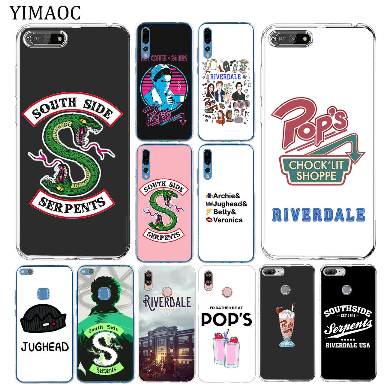 YIMAOC Riverdale South Side Serpents Soft Case for Huawei Y7 Y6 Y9 Prime 2018 Honor 20 10 8 8C 8X 9X 9 Lite 7X 7C 7A Pro Cover