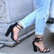 Frauen sandalen 2017 schnalle sommer schuhe frau mode Super high heels Gladiator sandalen klar frauen Alias Übergröße 43
