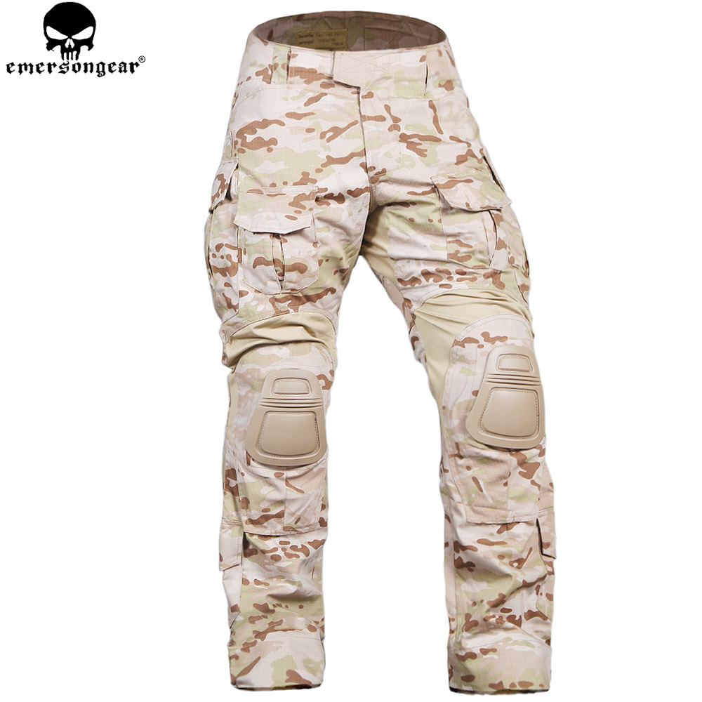 EMERSONGEAR Combat Pants with Knee Pads Military Aamy Hunting Airsoft Wargame Trousers Emerson Pants Multicam Arid EM9351 emersongear g3 combat pants with knee pads military bdu army airsoft emerson gear paintball hunting trousers em7046 mandrake