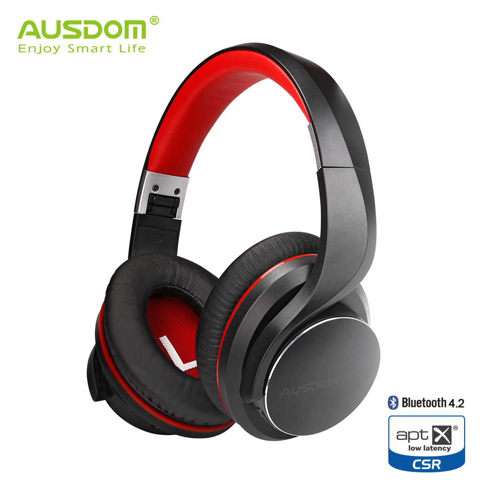 Ausdom AH3 AptX Low Latency Wireless Headphones Bluetooth 4.2 Over Ear Foldable Bass Boosted