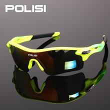 POLISI New Cycling Glasses Eyewear Eyeglass UV400 Bicycle Bike Sunglasses Unisex Ultralight Riding Goggles Oculos 5 Lenses