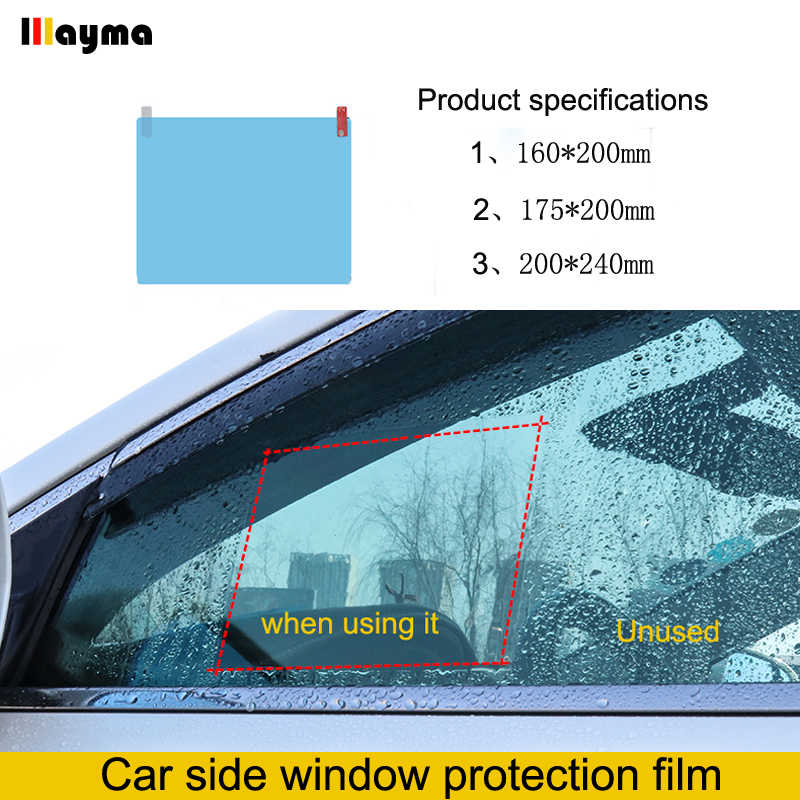 Car window Protective Film Anti Fog Side Windows Clear Rainproof Anti Fogging Soft Film Auto Safe Driving Accessories