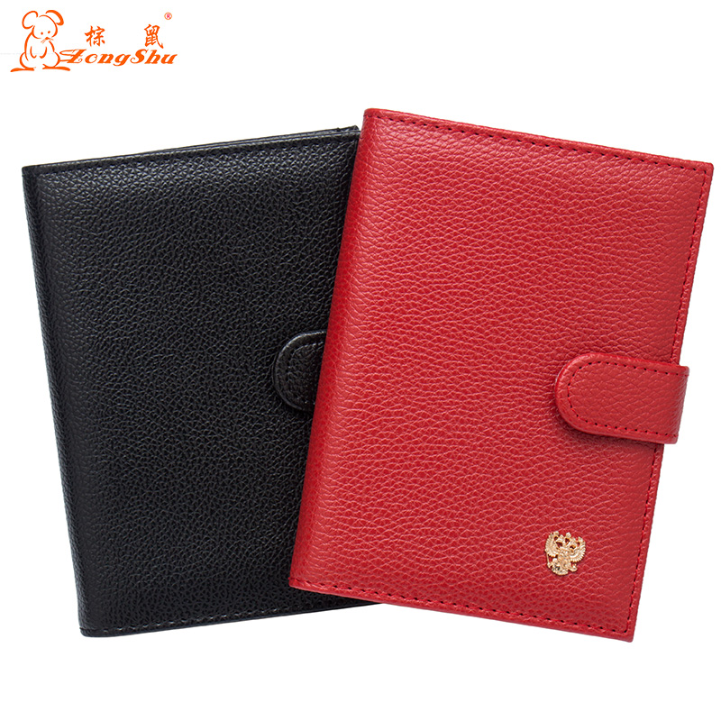 Russian Litchi Buckle Auto Driver License Bag PU Leather Cover For Car Driving Documents Card Credit Holder