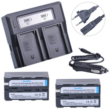 2 шт. 5200 мАч NP-F750 np-f770 литий-ионный Батарея + ЖК-дисплей Быстрый Зарядное устройство для Sony NP F970 F960 ccd-tr917 ccd-tr940 ccd-trv101 ccd-trv215