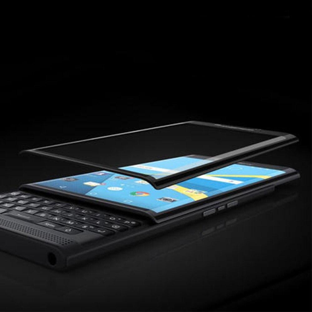 imágenes para De alta Calidad de Protector de Pantalla de Cristal Templado para Blackberry Priv Toda La Cubierta Protectora Perfecta Pantalla de Color Negro Oro