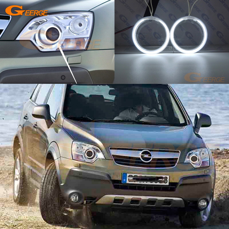 For Opel Antara 2006 2007 2008 2009 2010 xenon headlight Excellent Ultra bright illumination CCFL Angel Eyes kit Halo Ring for land rover freelander lr2 2007 2008 2009 2010 xenon headlight excellent ultra bright illumination smd led angel eyes kit