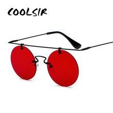COOLSIR Rimless Steampunk Sunglasses Round Shades Men Women Brand Designer Glasses Fashion Summer Style Vintage Eyewear UV400