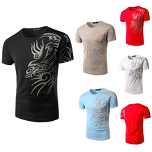 ZOGAA Men T-shirt Short Sleeve Simple Printed T-shirts Clothes 2018 Slim Fit Top Male O-neck Skinny Tee Fashion