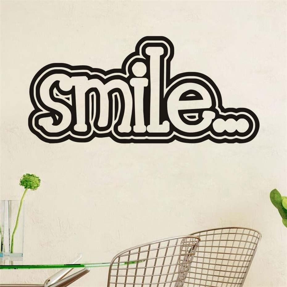 Pegatinas de pared con frase inspiradora de sonrisa vinilo - Papel pintado bebe nina ...