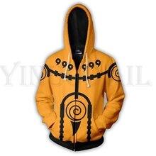 Anime Naruto Sweatshirts Men and Women Zipper Hoodies UZUMAKI 3d Print Hooded Jacket for Boys UCHIHA Cosplay Harajuku Streetwear