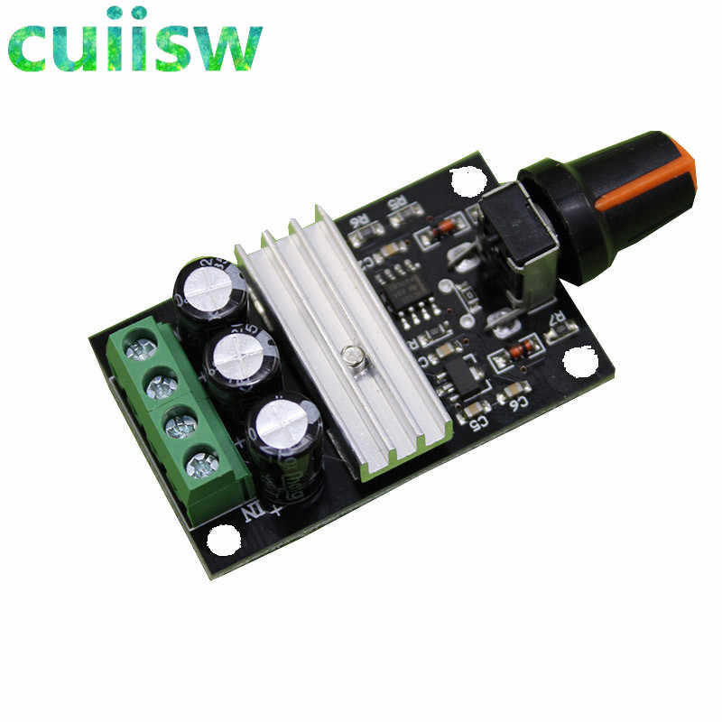 1pcs PWM Motor Speed Controller Regulator DC 6V 12V 24V 28VDC 3A 80W  Adjustable Variable Speed Control With Potentiometer Switc