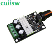 1 Pcs PWM Motor Speed Controller Regulator DC 6V 12V 24V 28VDC 3A 80W Adjustable Variabel kontrol Kecepatan dengan Potensiometer Switc