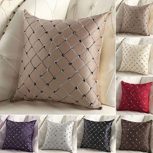 Новые Домашние диван-кровать Декор разноцветные пледы Бросок Наволочка площадь Чехлы BI8L