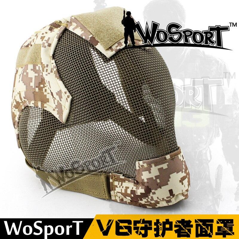 2019 Nouveau Militaire Airsoft Paintball Masques Tactique En Acier de Maille MA-19 Masque pour L'armée En Plein Air Paintball huntingAccessories
