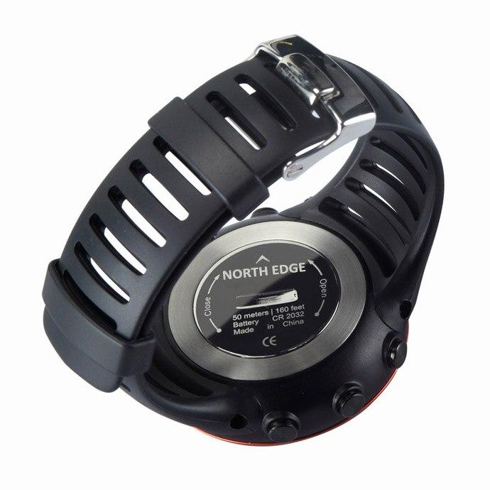 SUNROAD Мужские Цифровые спортивные часы FR861B Barometer часы компас высотомер температура плавательный туристические часы (синий) - 6