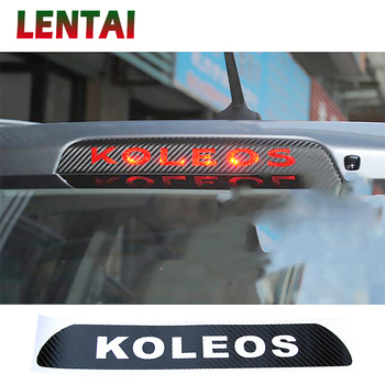 LENTAI High Brake Light Auto Accessories Black Carbon Fiber Stickers Decoration Decal Car Styling For Renault KOLEOS 2009-2016 image