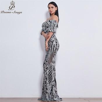 Poems Songs New Style elegant luxury Evening dresses long vestido de festa longo prom dress robe de soiree evening gowns 3