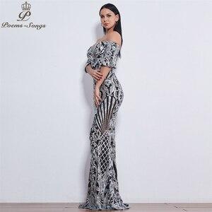 Image 2 - Poems Songs New Style elegant luxury Evening dresses long vestido de festa longo prom dress robe de soiree evening gowns