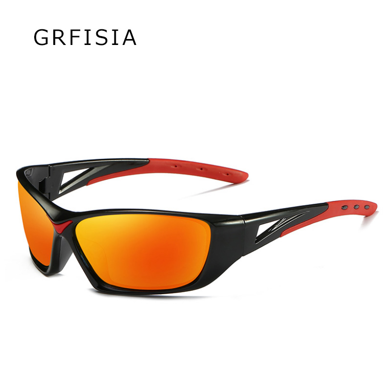 GRFISIA Very Cool Square Frame Men Polarized Sunglasses Drive Outdoor Sports protect Eyes Sun Glasses Male Polarized Shades G416