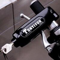 Nordson Universal Aluminum Motorcycle Handlebar Lock Scooter Brake Throttle Grip Protection Lock for Honda Kawasaki Yamaha KTM