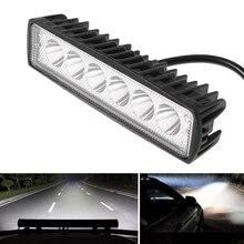 1 шт. 18 Вт 800LM 6 светодиодный яркий светильник точечная Рабочая панель для вождения противотуманная фара для внедорожников автомобильный светильник Точечный светильник внешние автомобильные аксессуары для грузовиков