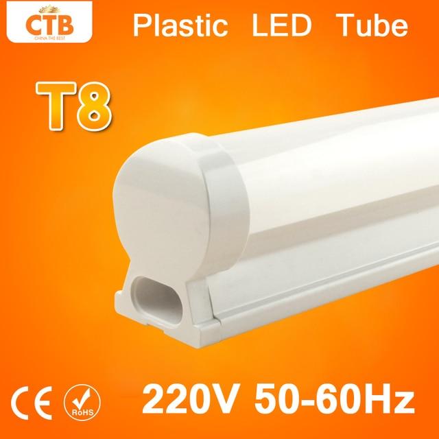 6 Pcs 220V 240V LED Tube T8 Light 10W LED Fluorescent Tube T8 Wall Lamp 60cm Led Integrated Tube Cold Warm White T8   Bulb Light